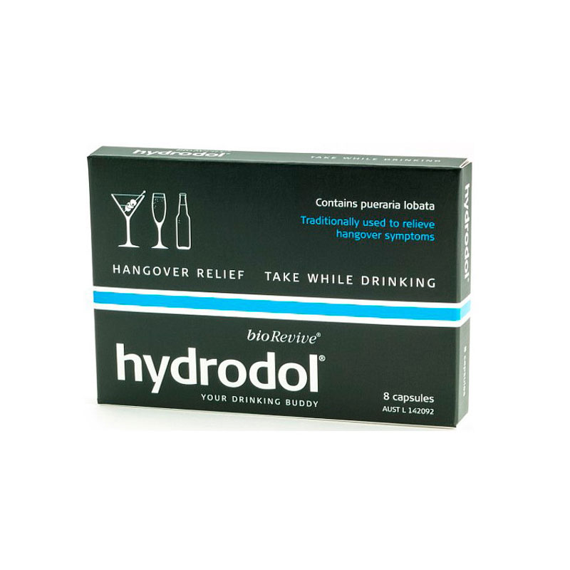 Hydrodol Hangover Relief 8 Capsules